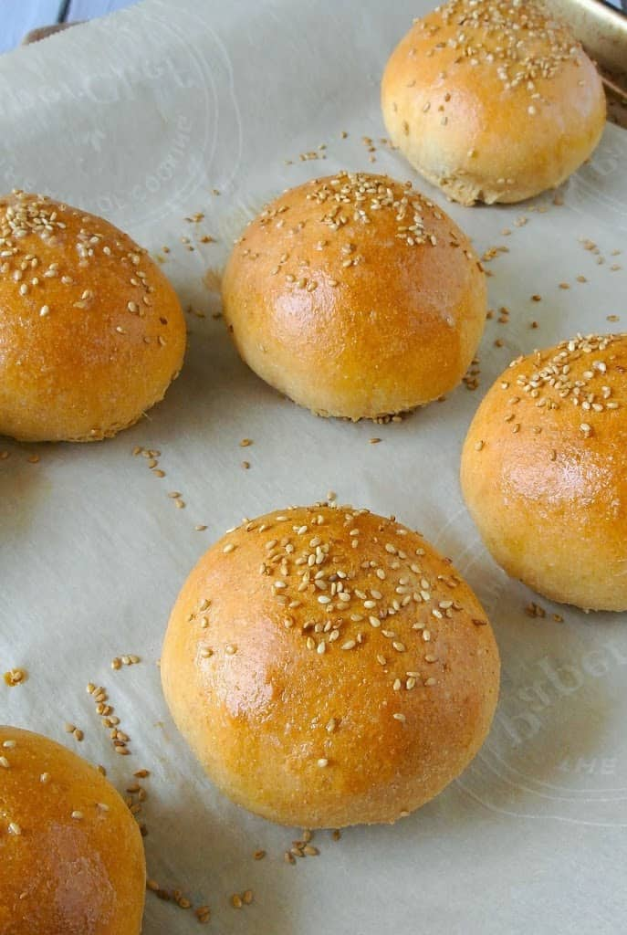 Whole wheat hamburger buns. Nothing beats homemade bread and they'll make your burgers taste great.