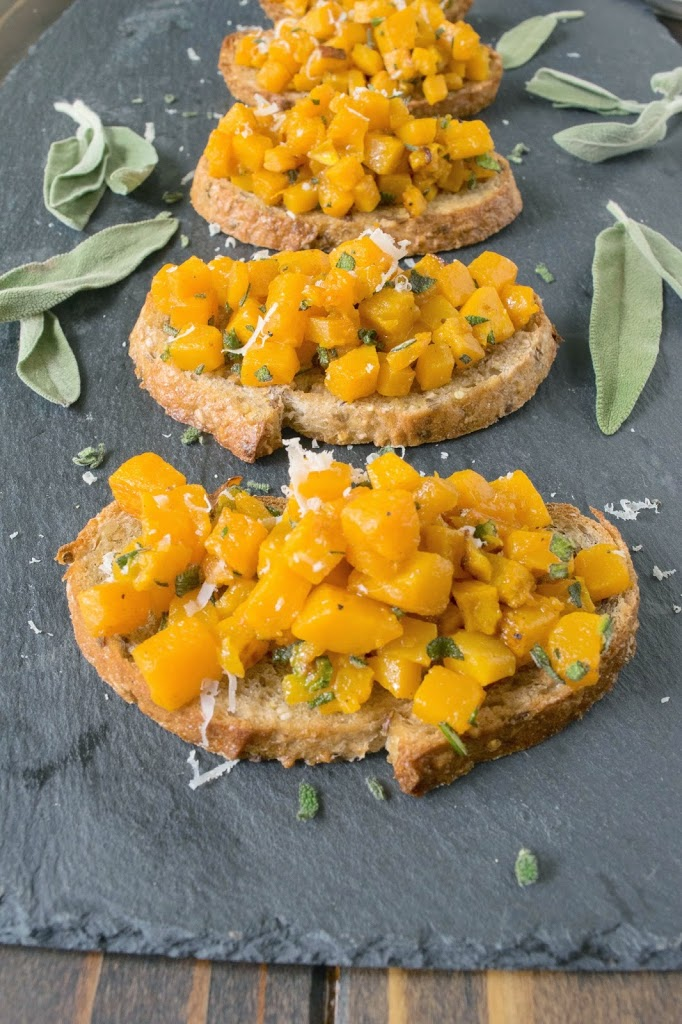Roasted butternut squash bruschetta & signed Ina Garten cookbook ...