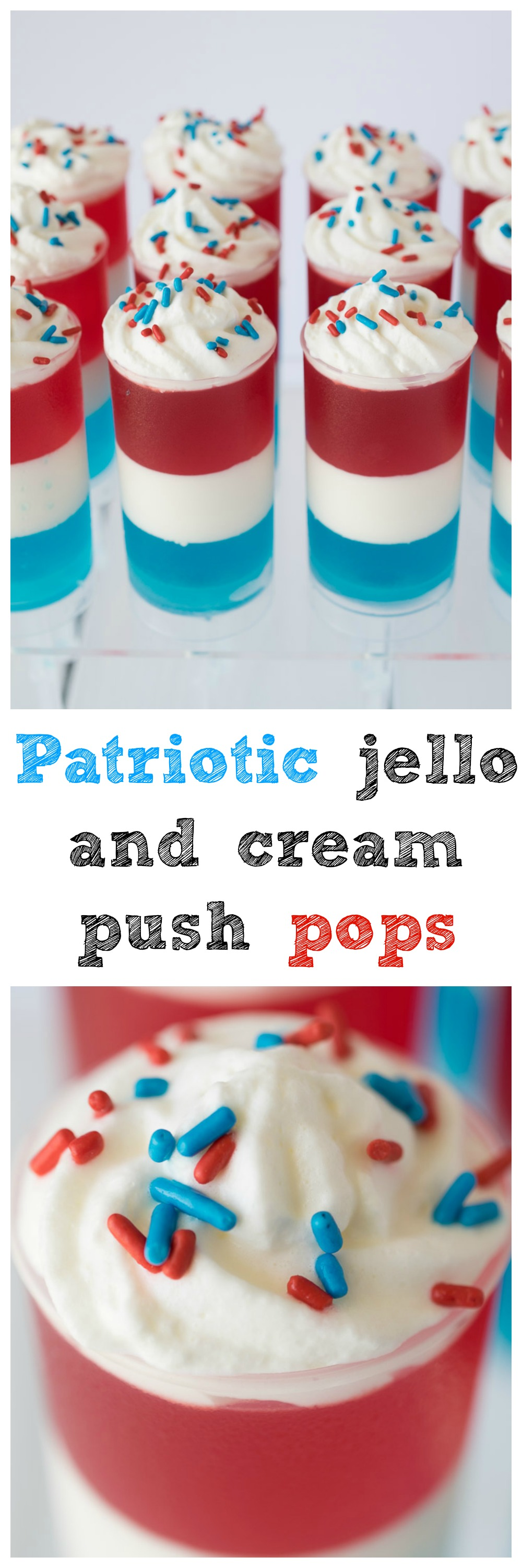 Patriotic jello and cream push pops