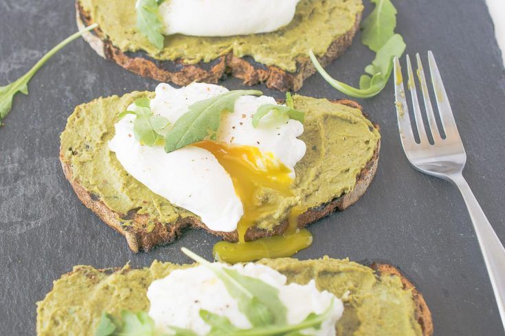 Avocado Artichoke Toast with Poached Egg