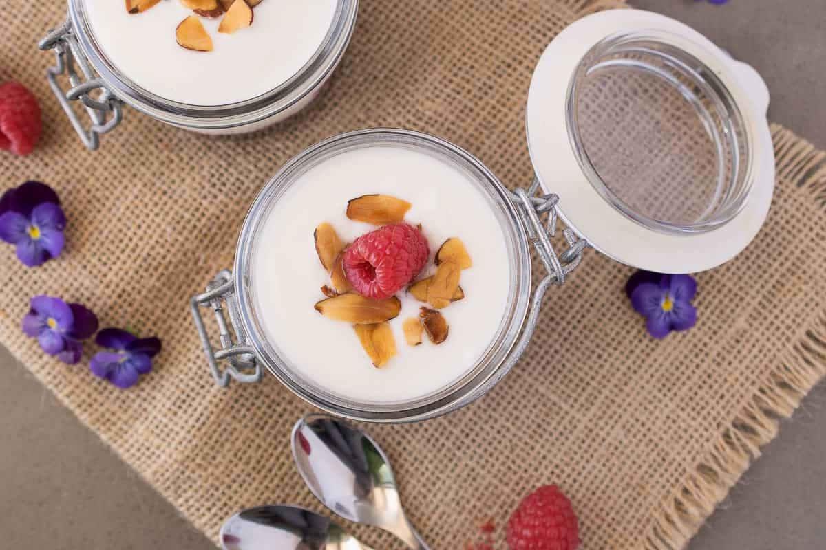 Fruit on the bottom yogurt