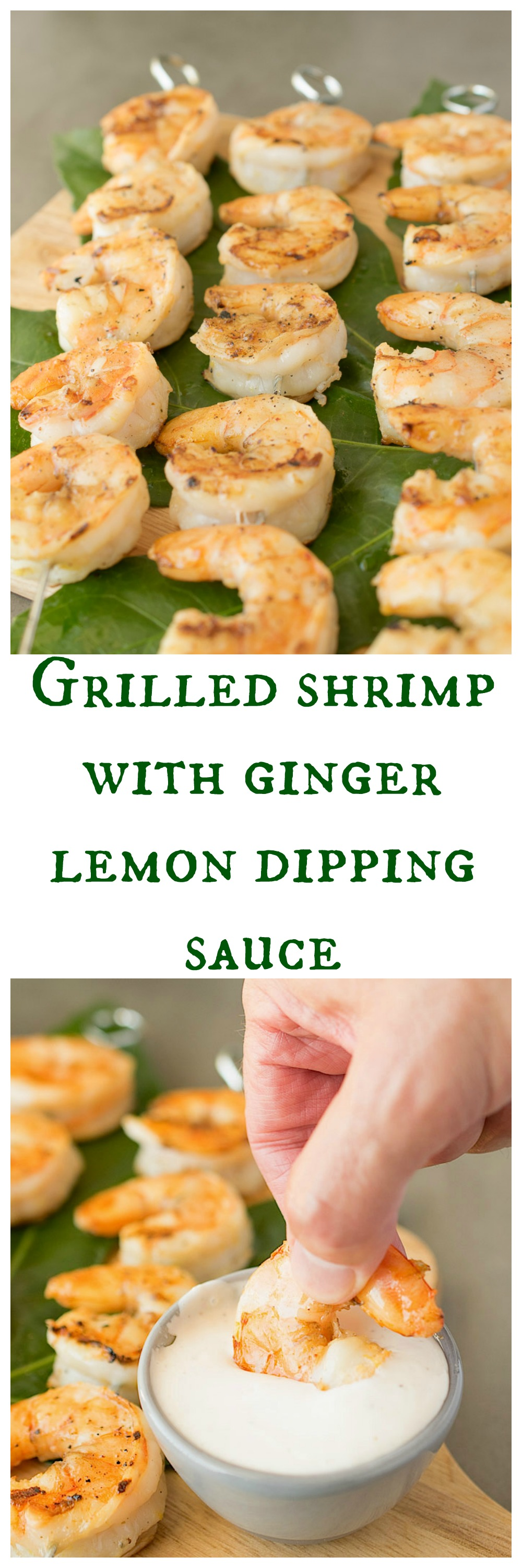 Grilled shrimp with ginger lemon dipping sauce - Culinary ...