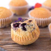 Blueberry orange upside down muffins-