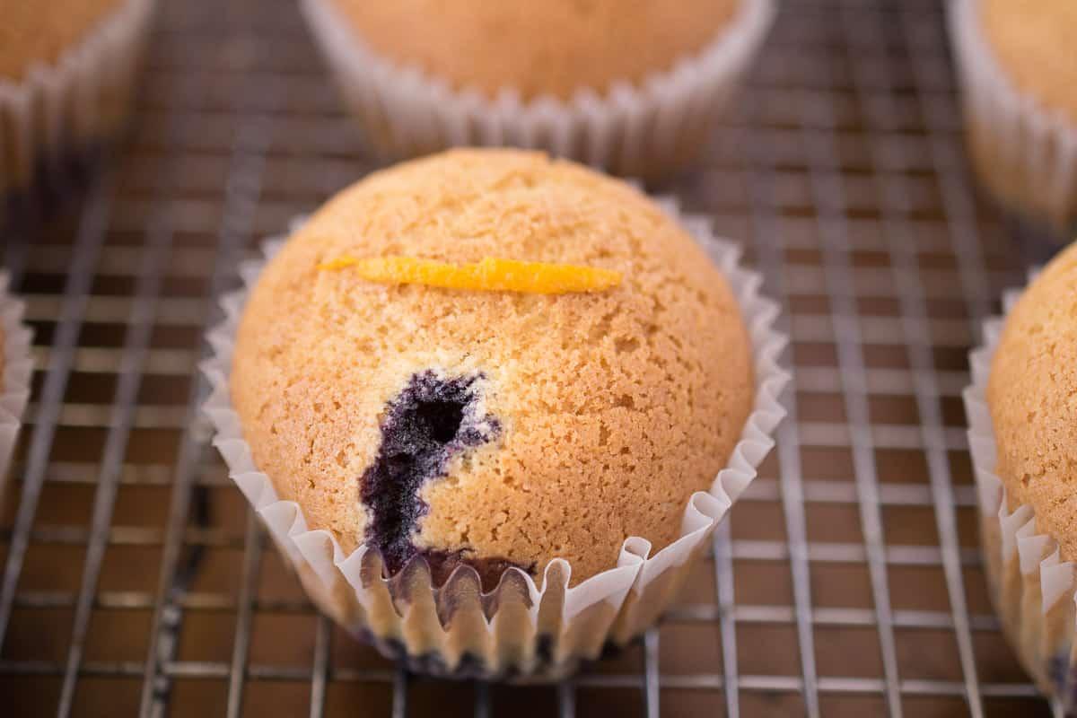 Blueberry orange upside down muffins
