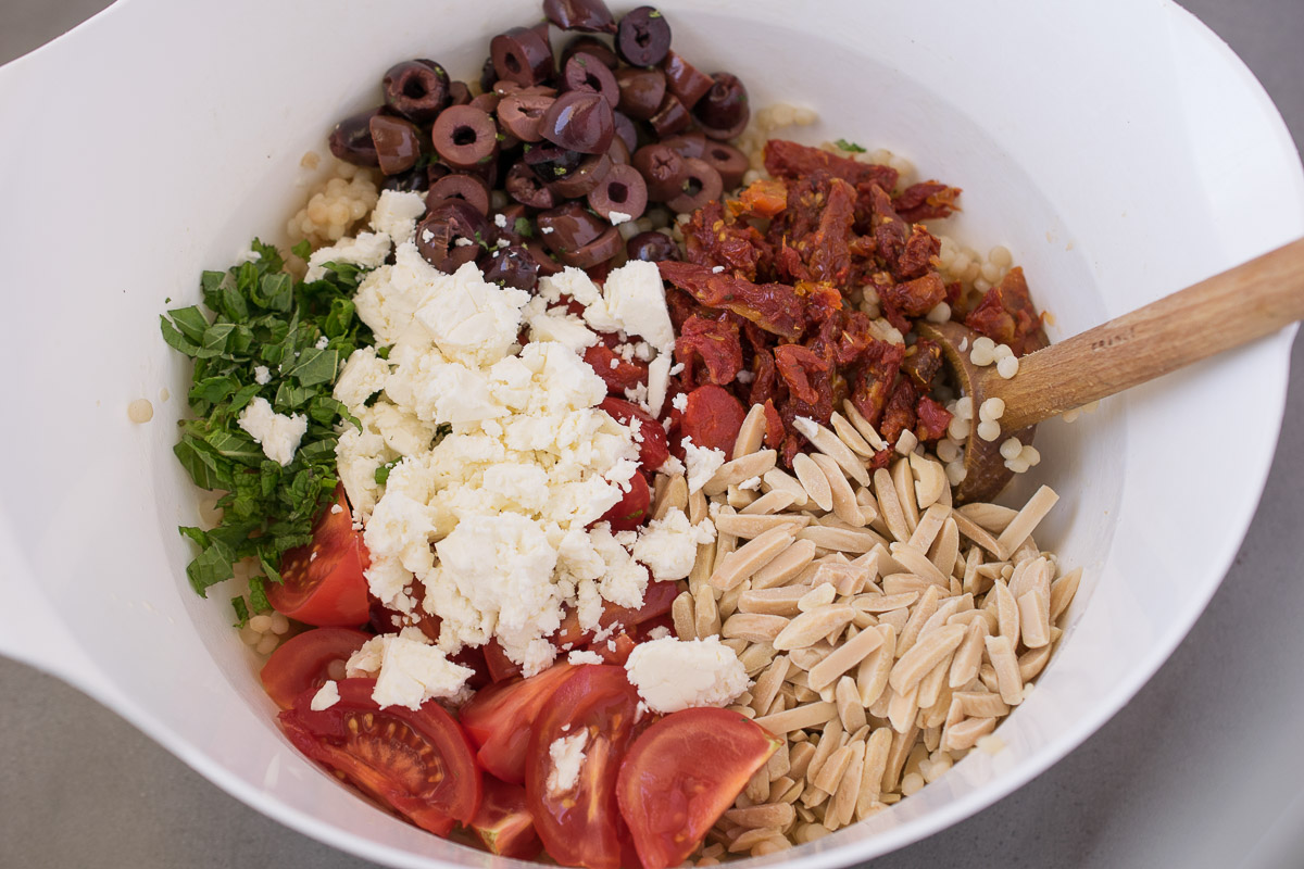 Mediterranean couscous salad - Culinary Ginger