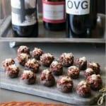 Chorizo stuffed mushrooms with wine