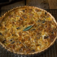 Autumn harvest quiche