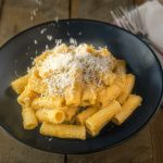 Creamy butternut squash pasta - Roasted butternut squash is transformed into a decadent sauce that is dairy free. Creamy butternut squash pasta is a healthy, comfort food dish that is perfect for the fall season and beyond.