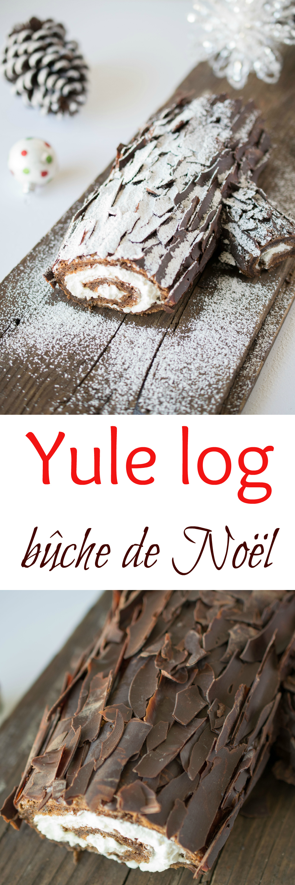 How to make a christmas yule log decoration - The Yule Log Also Known As A B Che De No L In France And Canada