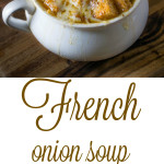 2 bowls of French onion soup
