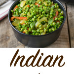 Indian spiced peas has onions and red bell peppers. There's no easier (or healthier) way to add a lot of flavor to dishes than the use of spices.