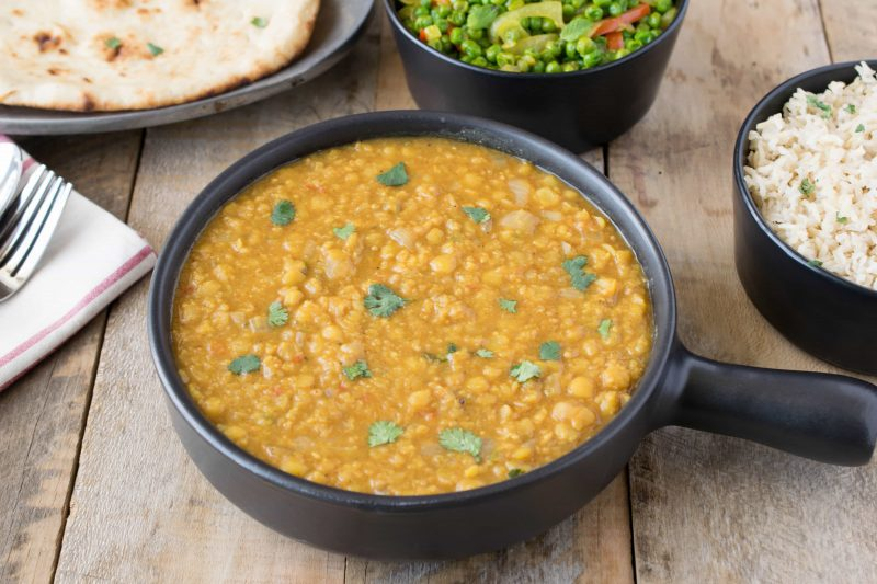 Indian dal is an easy and very flavorful vegetarian side dish made of yellow lentils, tomato, jalapeño and lots of spices. This makes a delicious, vegetarian side dish for any Indian meal.