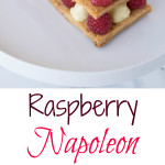 Raspberry Napoleon from the top and side