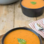Fresh, delicious and really quick to make. 30 minute tomato basil soup is comfort food in a snap, using fresh tomatoes and basil.