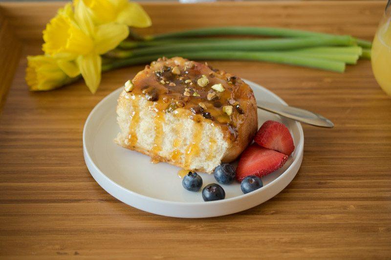 Apricot Pistachio Breakfast Sticky Buns