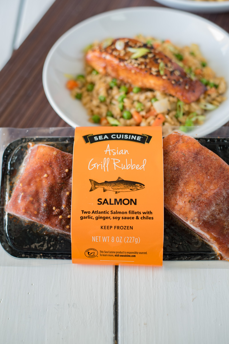 A package of Sea Cuisine Asian Grill Rubbed Salmon