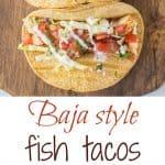 Healthier, no breaded Baja style fish tacos