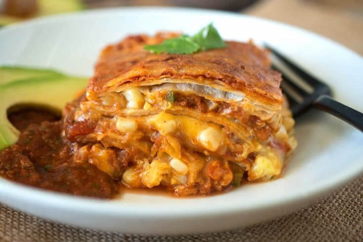 Baked Mexican Breakfast Lasagna