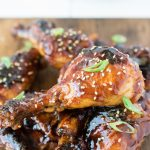Baked honey soy chicken drumsticks are everything you want in a drumstick. Bathed in a sweet and tasty Asian sauce with a little kick, these drumsticks fall-off-the-bone delicious.