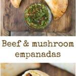 Beef and mushroom empanadas.