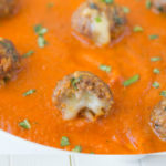 Cheese stuffed mini meatballs are very tasty (and easy) appetizer. Serve them in a bath of your favorite marinara sauce, a pile of toothpicks and you're set to feed a crowd.