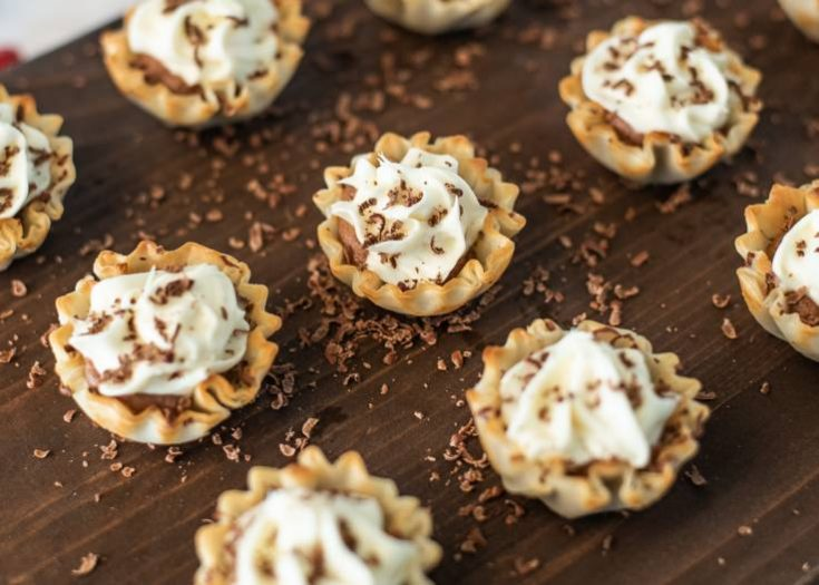 Chocolate Mousse Cream Cheese Phyllo Dessert Cups
