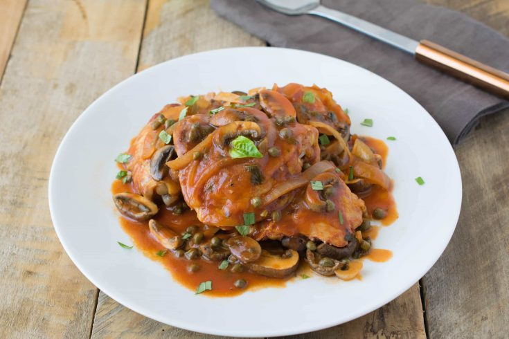 Crockpot chicken cacciatore is the perfect one pot meal that cooks itself while you're away and you get to come home to the delicious aromas from a comforting, slow cooked meal.