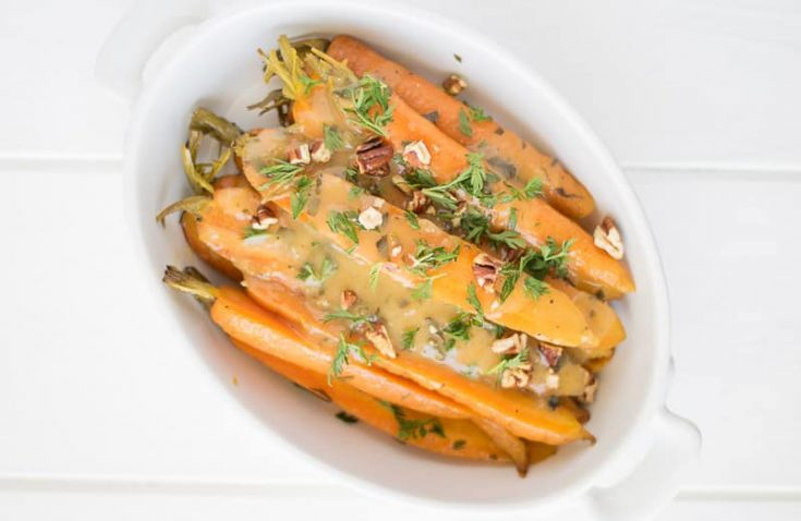 Crockpot Orange, Honey and Herb Glazed Carrots
