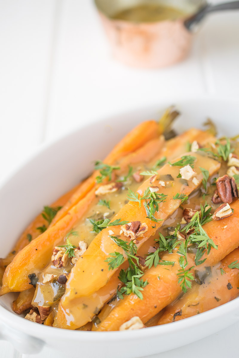 carrots, christmas, crockpot, easy, easyrecipe, glazed, herb, honey, orange, parsley., pecans, rosemary, sage, side, slowcooker, thanksgiving