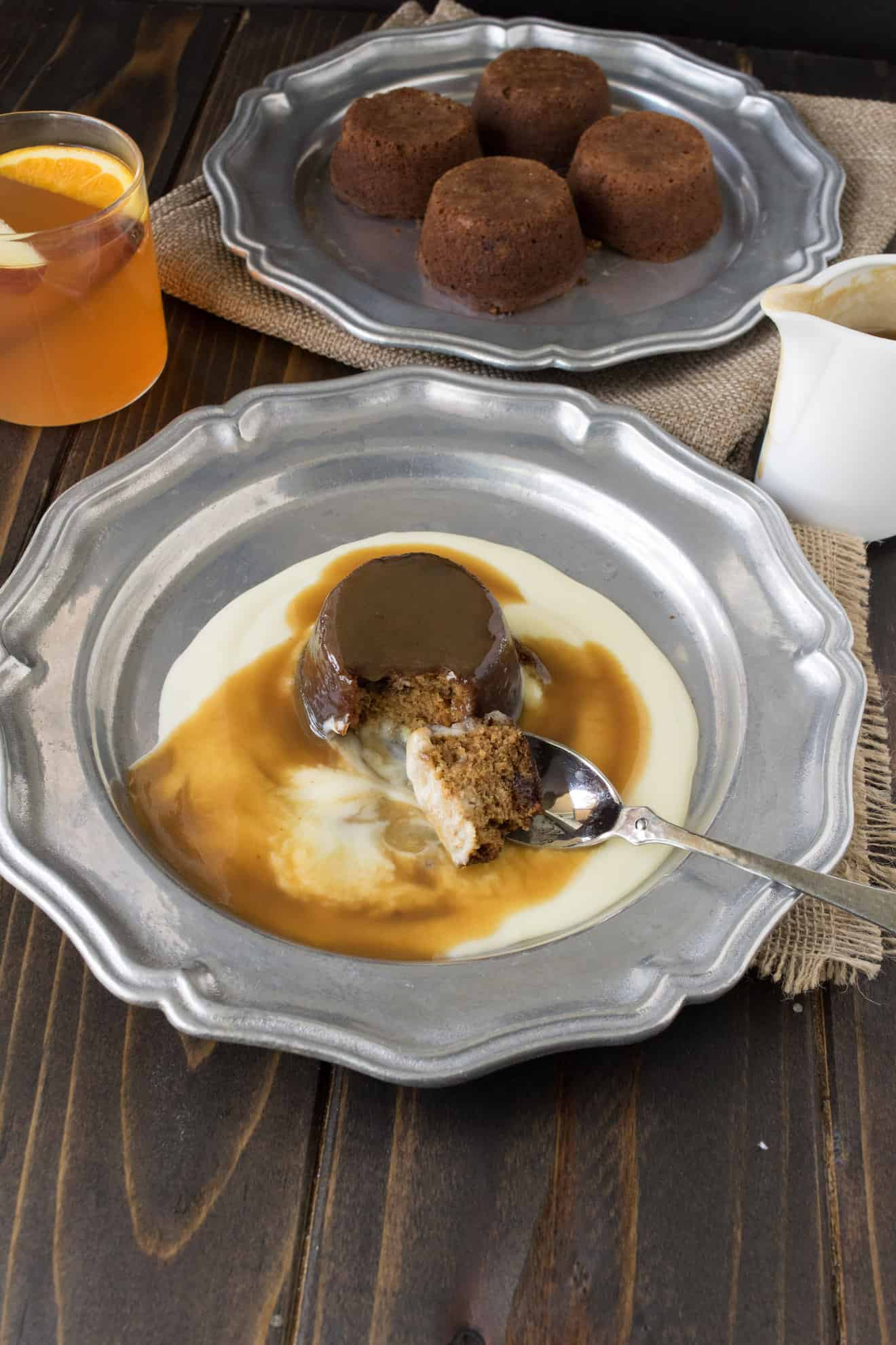 A spoonful of sticky toffee pudding