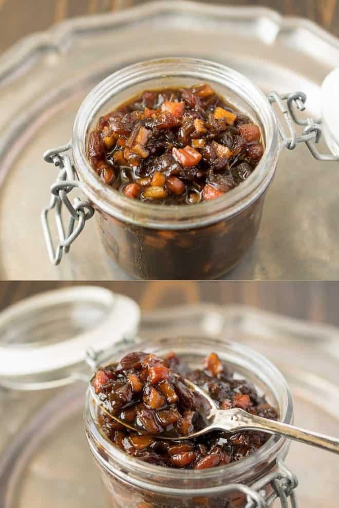 Jars of English pickle relish