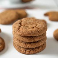 A stack of 4 Ginger Snaps a.k.a Ginger Nuts