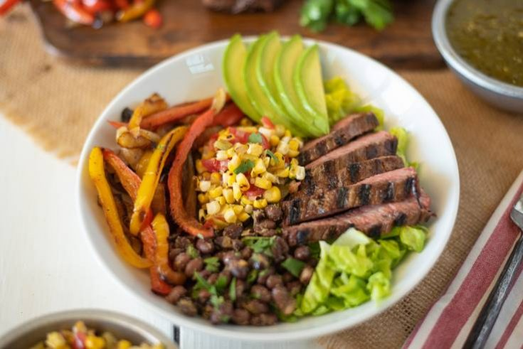 Grilled Steak Fajita Bowls