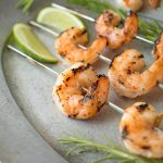 Grilled key lime shrimp is fast and easy meat free alternative that can be served as an appetizer or the protein in any main meal.