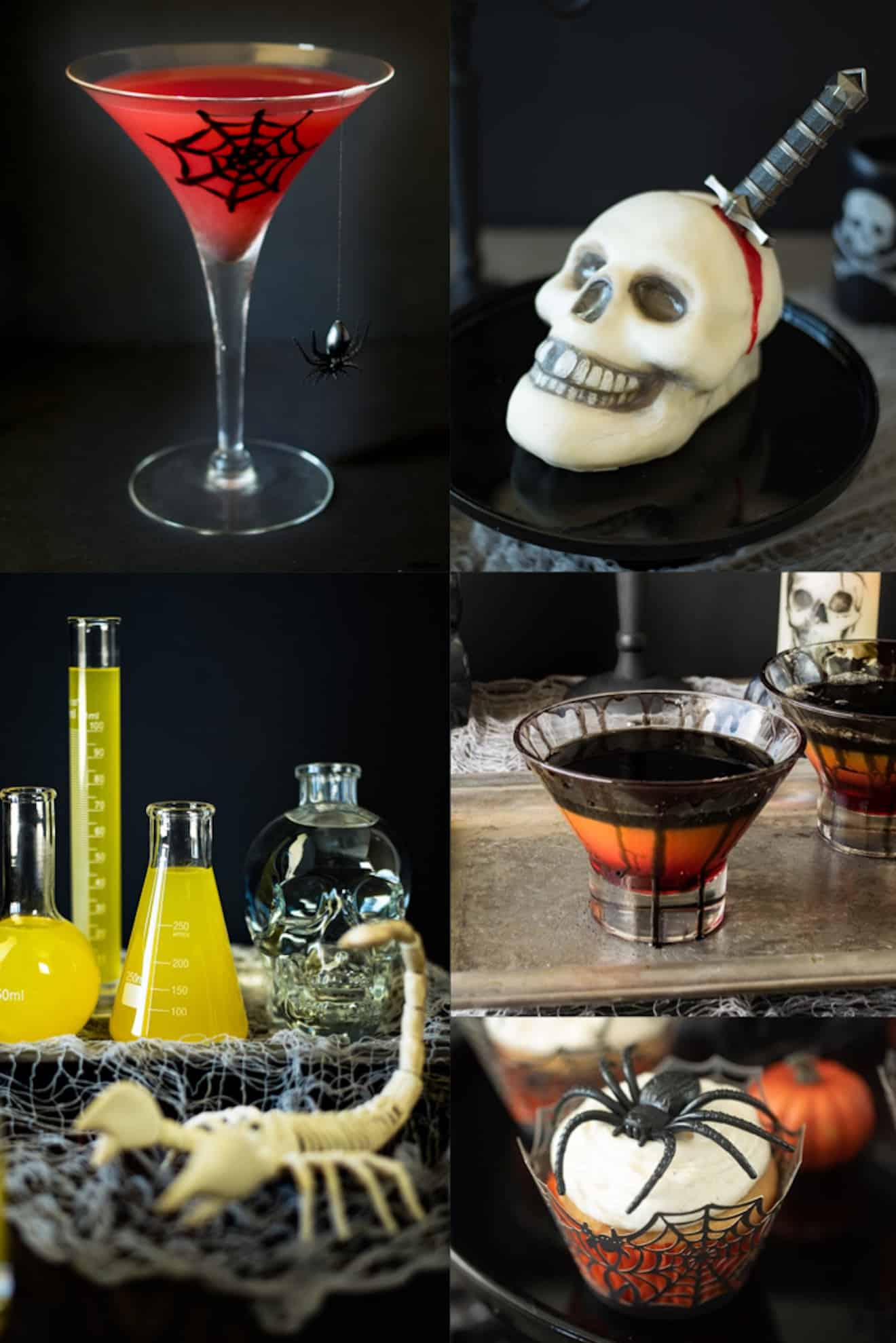 A collage of fun Halloween recipes