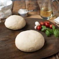 2 balls of yeast free pizza dough