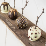 Homemade chocolate apples