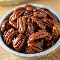 A guide of how to make maple glazed pecans