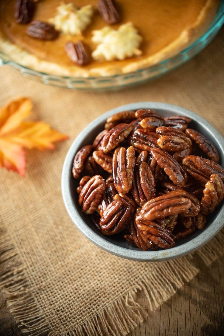 Pecans are perfect for topping desserts like sweet potato pie