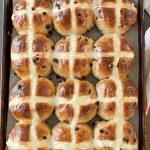 Hot cross buns warm and shiny