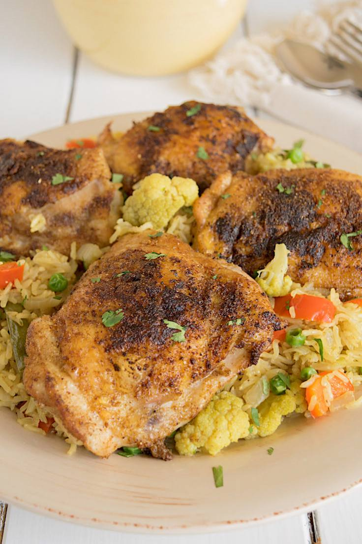 Indian Spice Rubbed Chicken Thighs