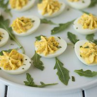 Italian spiced deviled eggs are an Italian twist on a classic. Mascarpone, fresh basil and a very special Italian spice blend to take these deviled eggs from tasting good to tasting great!