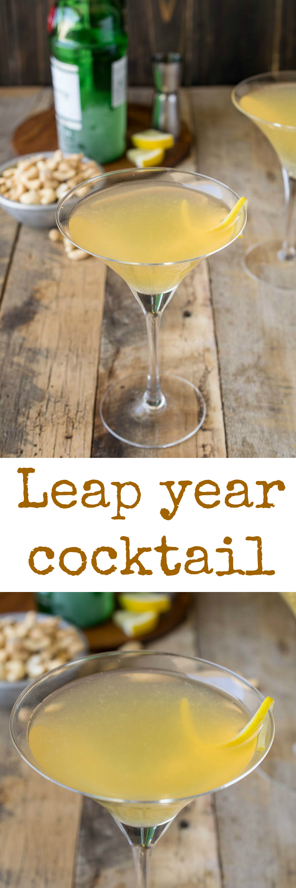 Leap year cocktail. Gin, Grand Marnier, sweet vermouth and fresh lemon juice. Invented in London in the leap year of 1928.