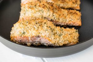 Lemon parmesan crusted salmon recipe