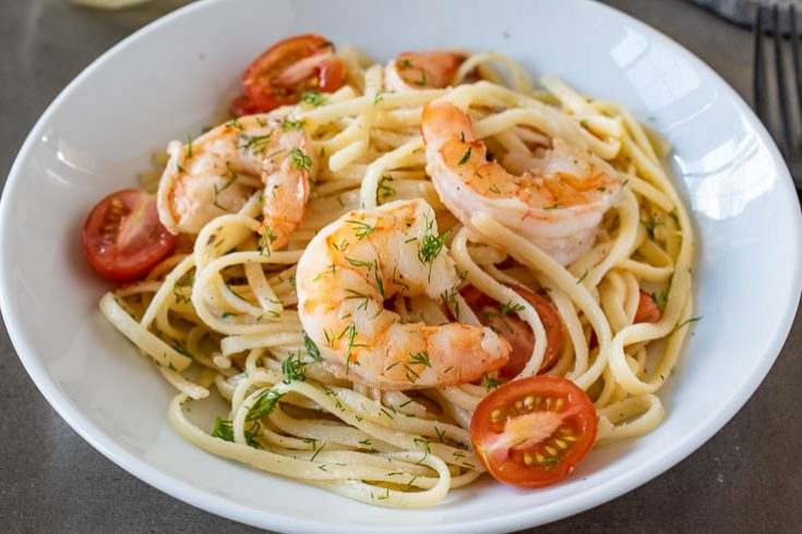 Linguine with Shrimp (Linguine con Gamberi)