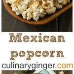 Mexican popcorn in wood bowls