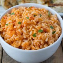 I love easy weeknight dinners  that can be transformed into delicious leftover lunches. Mexican rice is not only a delicious side dish that is made in the traditional way, but makes great leftovers for lunches all week.