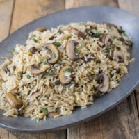 Mushroom and sage rice pilaf