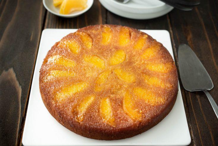 Orange Salted Caramel Upside Down Cake