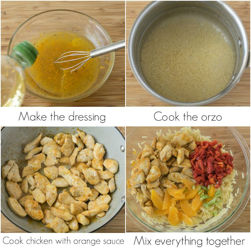 Orange Chicken Orzo Salad is the perfect warm weather dish and will make a spectacular addition for picnics, beach days or road trips.